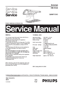 Service Manual Philips SUNStudio HB574/A