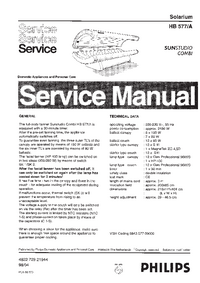 Service Manual Philips SUNStudio Combi HB577/A