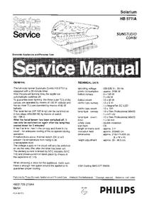 manuel de réparation Philips SUNStudio Combi HB577/A