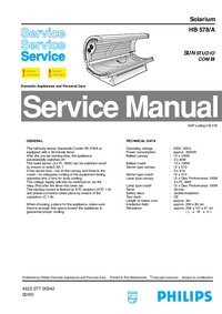 Service Manual Philips SUNStudio Combi HB578/A