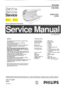 Service Manual Philips SUNStudio Combi HB579/A