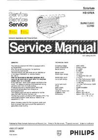 Руководство по техническому обслуживанию Philips SUNStudio Combi HB579/A