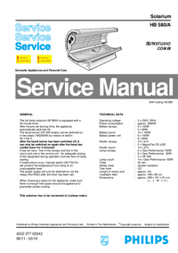Service Manual Philips SUNStudio Combi HB 580/A