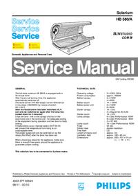 Servicehandboek Philips SUNStudio Combi HB 580/A