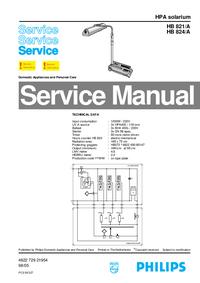 Manual de servicio Philips HB 821/A