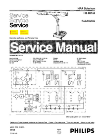Manual de servicio Philips Sunmobile HB861/A