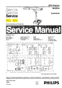 Manuale di servizio Philips Sunmobile HB861/A