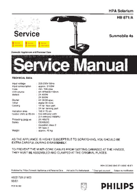 Service Manual Philips HB871/A