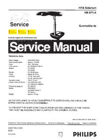 Manual de serviço Philips HB871/A