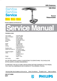 Service Manual Philips Sunmobile HB 875/A