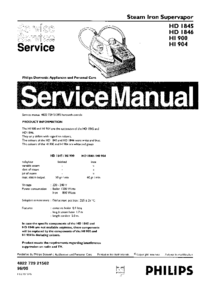 Servicehandboek Philips HD1845