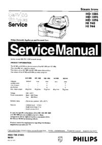 Manuale di servizio Philips HD1885