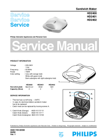 Manual de servicio Philips HD2402