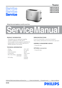 Servicehandboek Philips HD2520/A