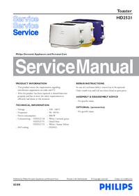Servicehandboek Philips HD2521