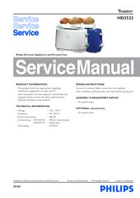 Manuale di servizio Philips HD2523