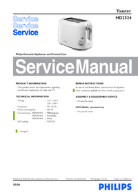 Servicehandboek Philips HD2524