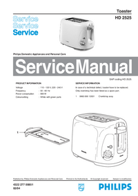 Servicehandboek Philips HD 2525