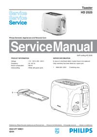 Manuale di servizio Philips HD 2525
