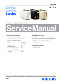 Servicehandboek Philips HD2526