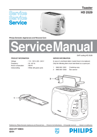 Servicehandboek Philips HD 2529