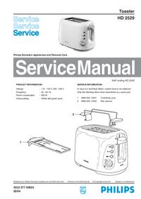 Manuale di servizio Philips HD 2529