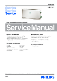 Manual de servicio Philips HD2541