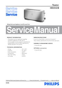 Manual de serviço Philips HD2542/B