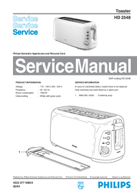 Manual de servicio Philips HD 2548