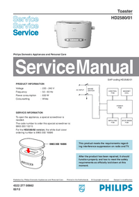 Service Manual Philips HD2580/01