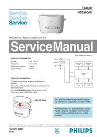 Servicehandboek Philips HD2580/01