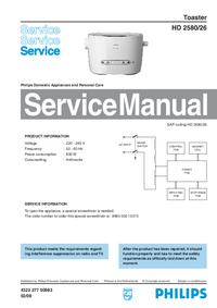 Manuale di servizio Philips HD 2580/26