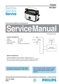 Manuale di servizio Philips HD 2601