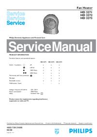 Руководство по техническому обслуживанию Philips HD 3273