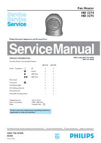 Servicehandboek Philips HD 3274