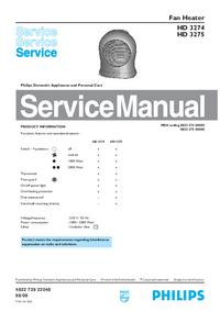 Руководство по техническому обслуживанию Philips HD 3275