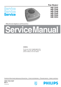 Servicehandboek Philips HD 3352