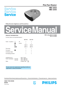 Servicehandboek Philips HD 3355