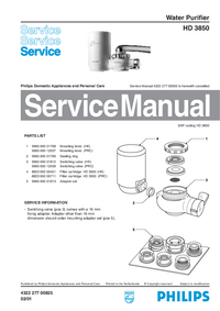 Service Manual Philips HD 3850