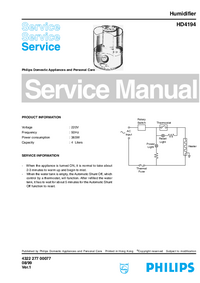 Manual de servicio Philips HD4194
