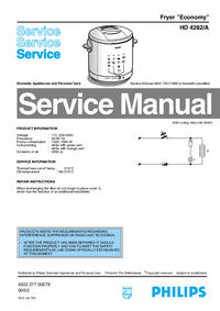 Service Manual Philips Economy HD 4282/A