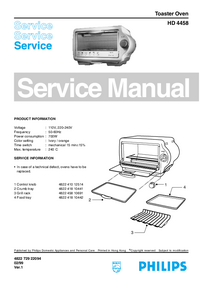 Servicehandboek Philips HD 4458