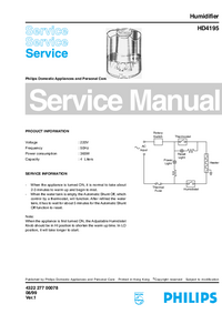 Manual de servicio Philips HD4195
