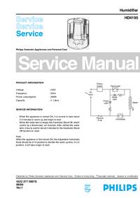 Instrukcja serwisowa Philips HD4195