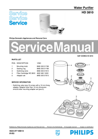 Servicehandboek Philips HD 3810