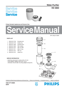 Service Manual Philips HD 3860