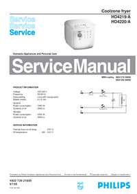 Manual de servicio Philips HD4219/A