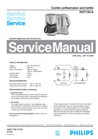 Service Manual Philips HD7130/A