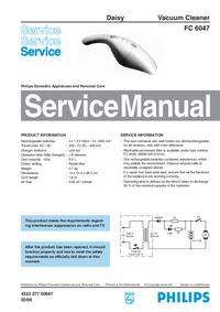 Manual de serviço Philips FC 6047