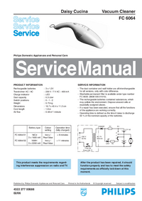 Manual de servicio Philips FC 6064